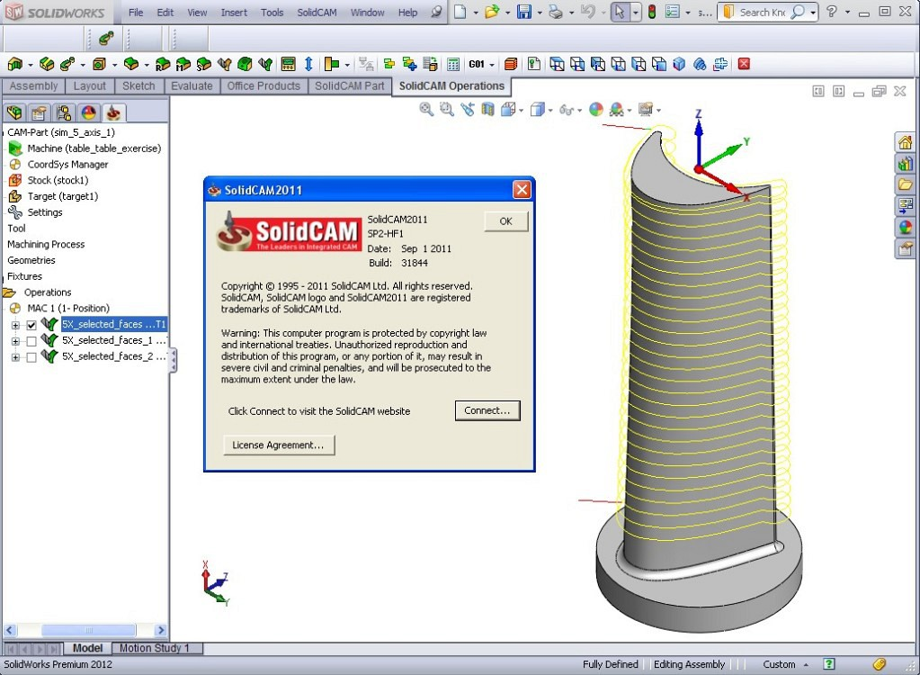 Buy SolidCAM 2011 with SP2 HF1 for SolidWorks 2007-2012