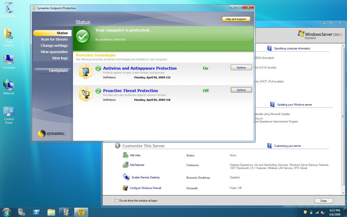 Virus Definitions not updating with Symantec Corporate Edition 10.01