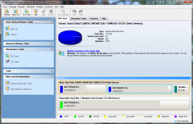 Paragon Backup and Recovery 11 Home Advanced recovery CD based on WinPE 11th BiR screenshot