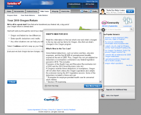 TurboTax Deluxe Federal and State 2011 screenshot