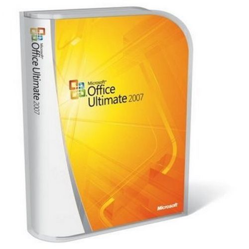 Microsoft Office 2007 Ultimate Edition with SP1 box
