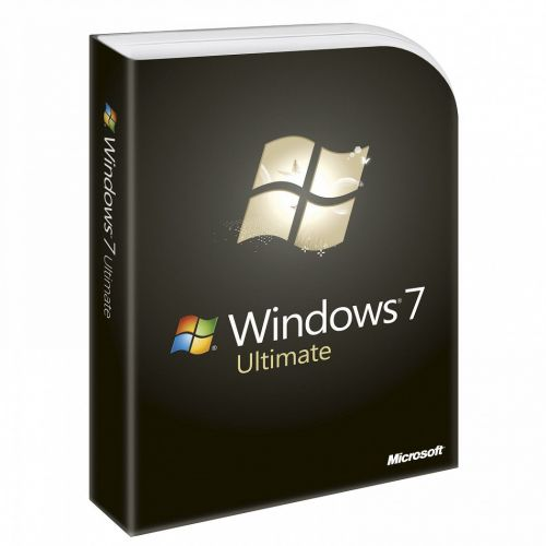 Microsoft Windows 7 Ultimate with SP1 box
