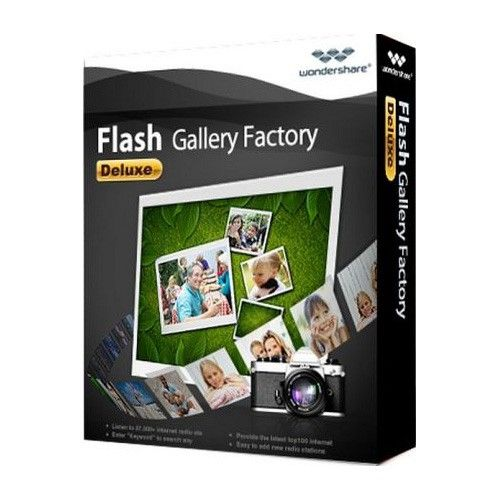Wondershare Flash Gallery Factory Deluxe 5.2.0 box