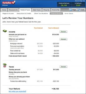TurboTax Deluxe 2011 for Mac screenshot