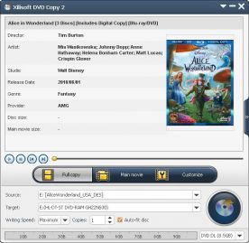 Xilisoft DVD Copy 2.0 screenshot