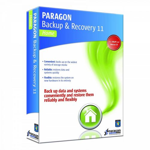Paragon Backup and Recovery 11 Home Advanced recovery CD based on WinPE 11th BiR box