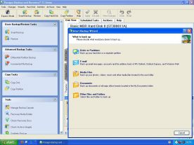 Paragon Backup and Recovery 11 Home 10.0 screenshot