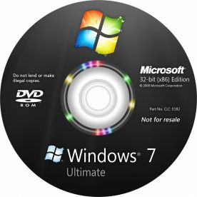 Microsoft Windows 7 Ultimate dvd