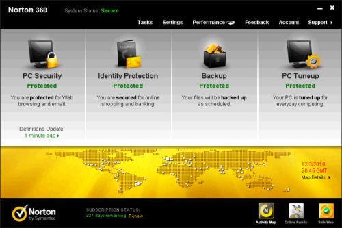Norton 360 5.0.0.125 box