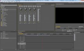 Adobe Premiere Pro CS5 5.0 screenshot audio mixer