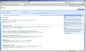 Microsoft Search Server 2010 with SP1 screenshot