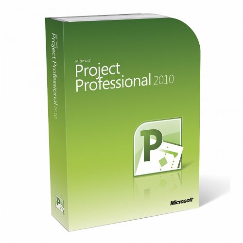 Microsoft Project Pro 2010 with SP1 box