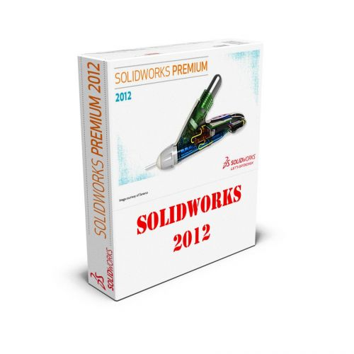 SolidWorks 2012 with SP5.0 Premium 64-bit box