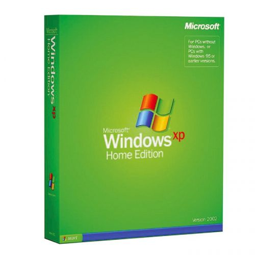 Microsoft Windows XP Home with SP2 box