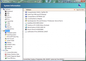 Yamicsoft Windows 7 Manager 3.0 screenshot