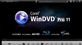 Corel WinDVD Pro 11.0 screenshot