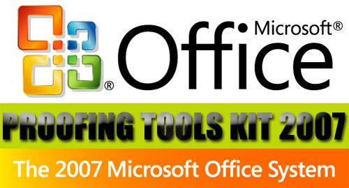 Microsoft Office 2007 Proofing Tools Kit box