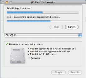 DiskWarrior 4.3.1107 for Mac screenshot