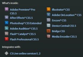 Adobe Creative Suite CS5.5 Production Premium content