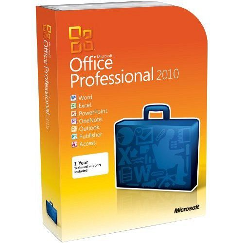 Microsoft Office 2010 VL Edition x64 box