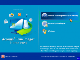 Acronis True Image Home 2012 Plus Pack screenshot