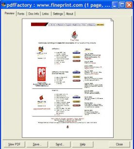 FinePrint PdfFactory Pro 4.60 Server Edition screenshot