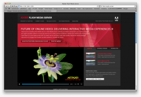 Adobe Flash Media Server 4.5 screenshot