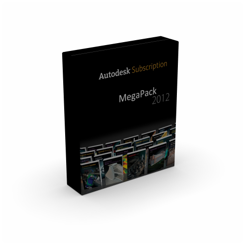 Autodesk Subscription 2012 MegaPack Multilanguage box