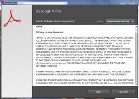 Adobe Acrobat Pro X 10 screenshot