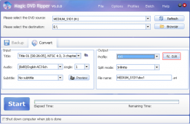 Magic DVD Ripper 6.0 screenshot