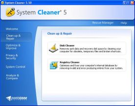 Pointstone System Cleaner 5.9 screenshot