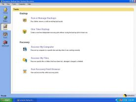 Symantec System Recovery 2011 10.0 screenshot