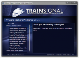 TrainSignal VMware vSphere 5 Training screenshot