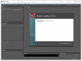 Adobe Audition CS5.5 about window