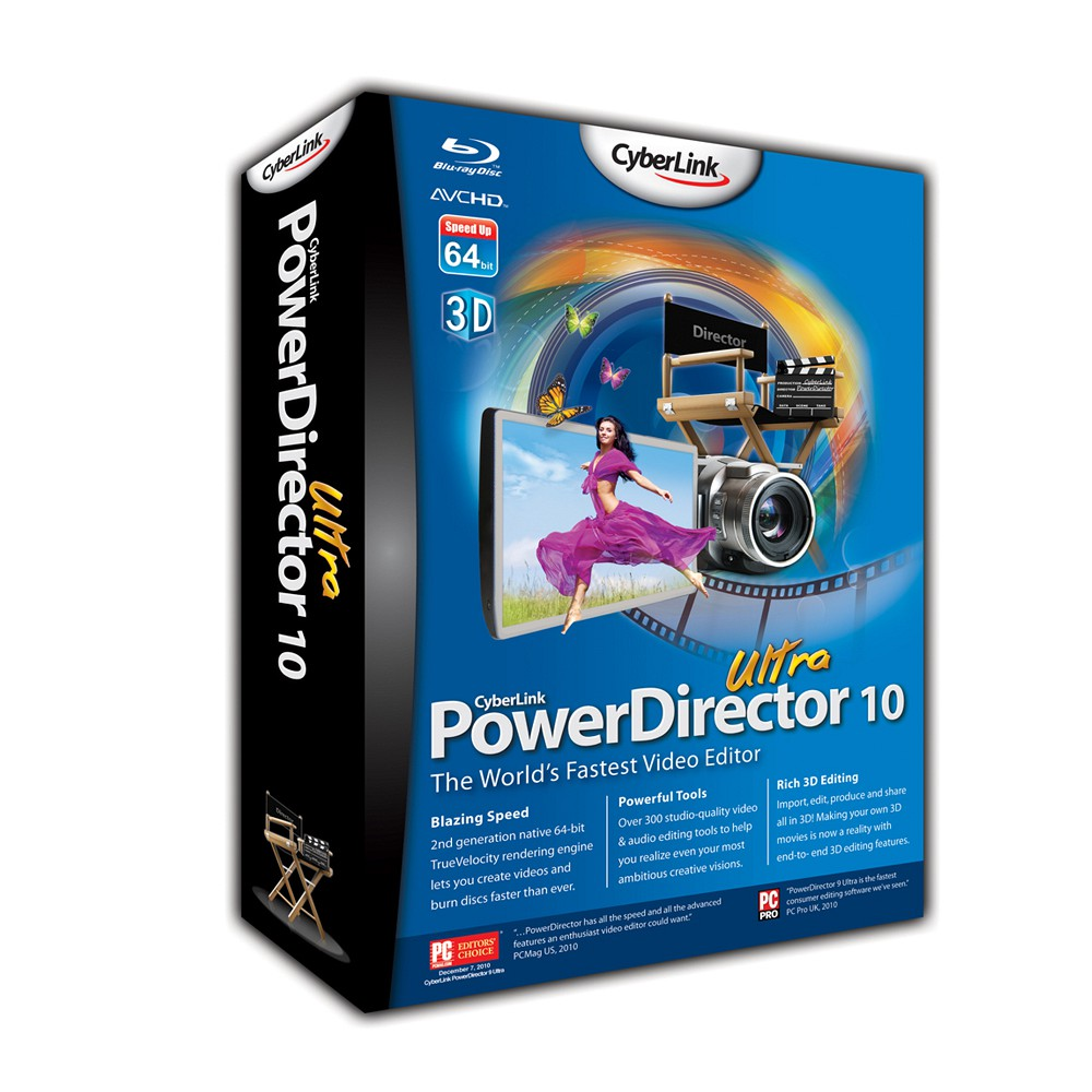 Cyberlink PowerDirector Ultra 7.00.1628 (1 cd)