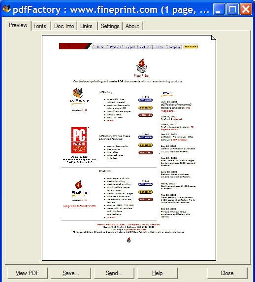 Pdf factory pro crack. FinePrint PdfFactory Pro 5.10 Server Edition Screen