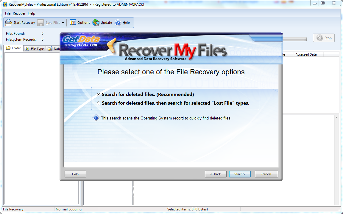 GetData Recover My Files 4.9.4.1343 Overview and Description