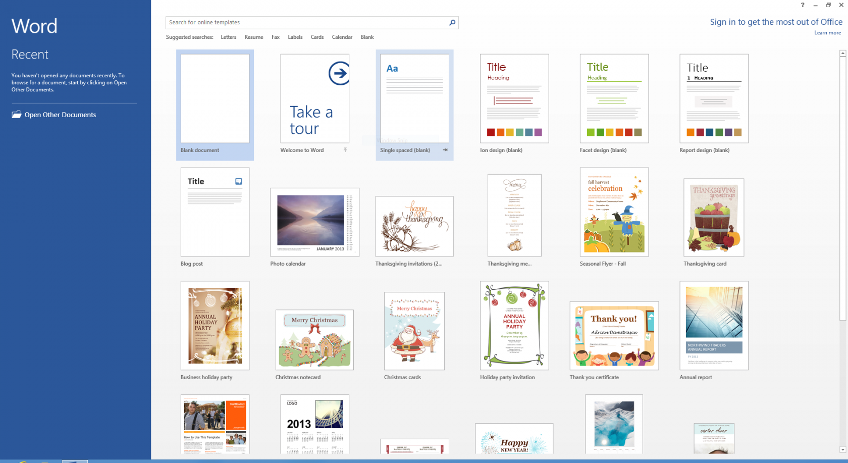 Microsoft Office 2013 x64 screenshot
