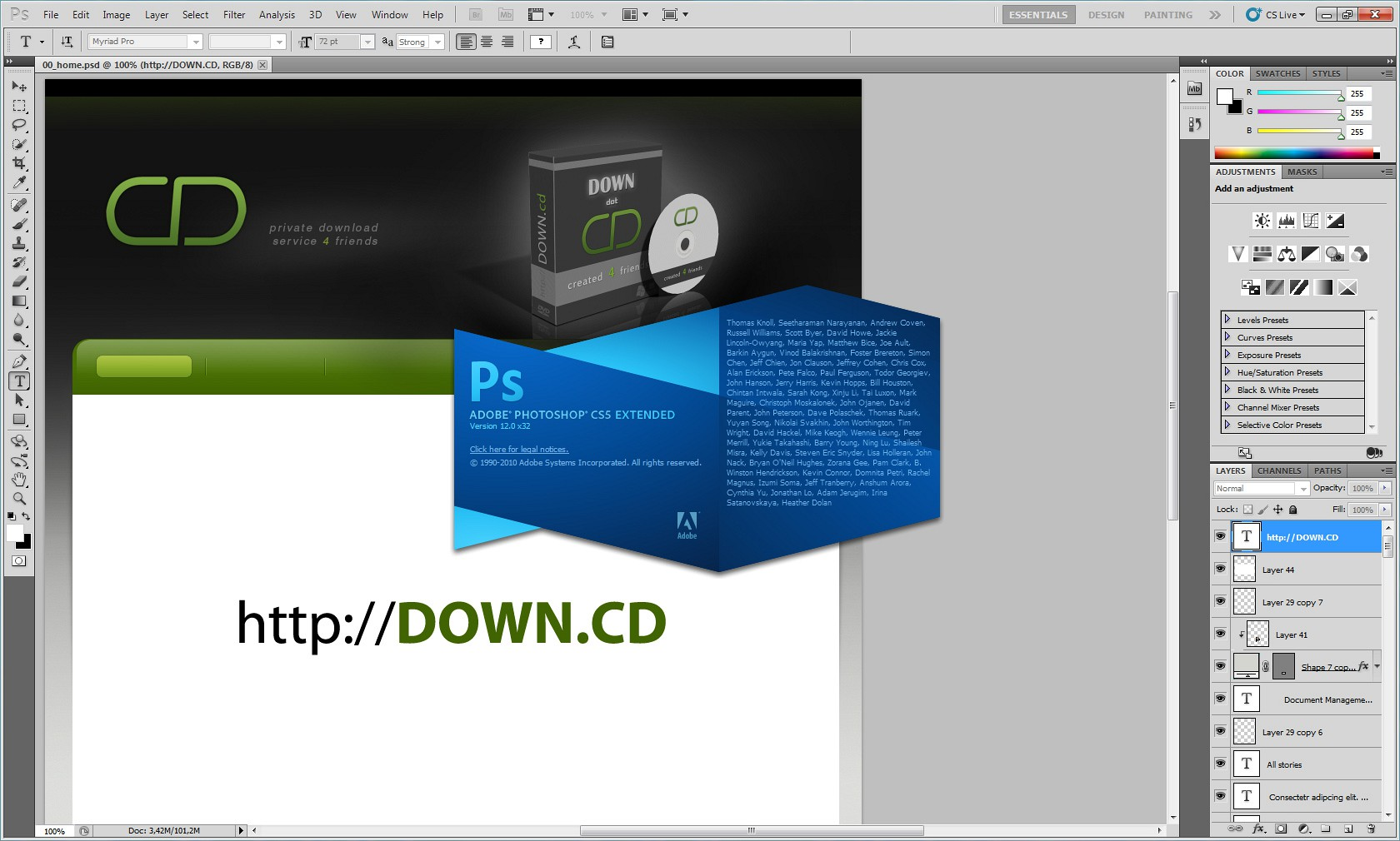 Adobe Photoshop CS5 12.0 Extended screenshot ...