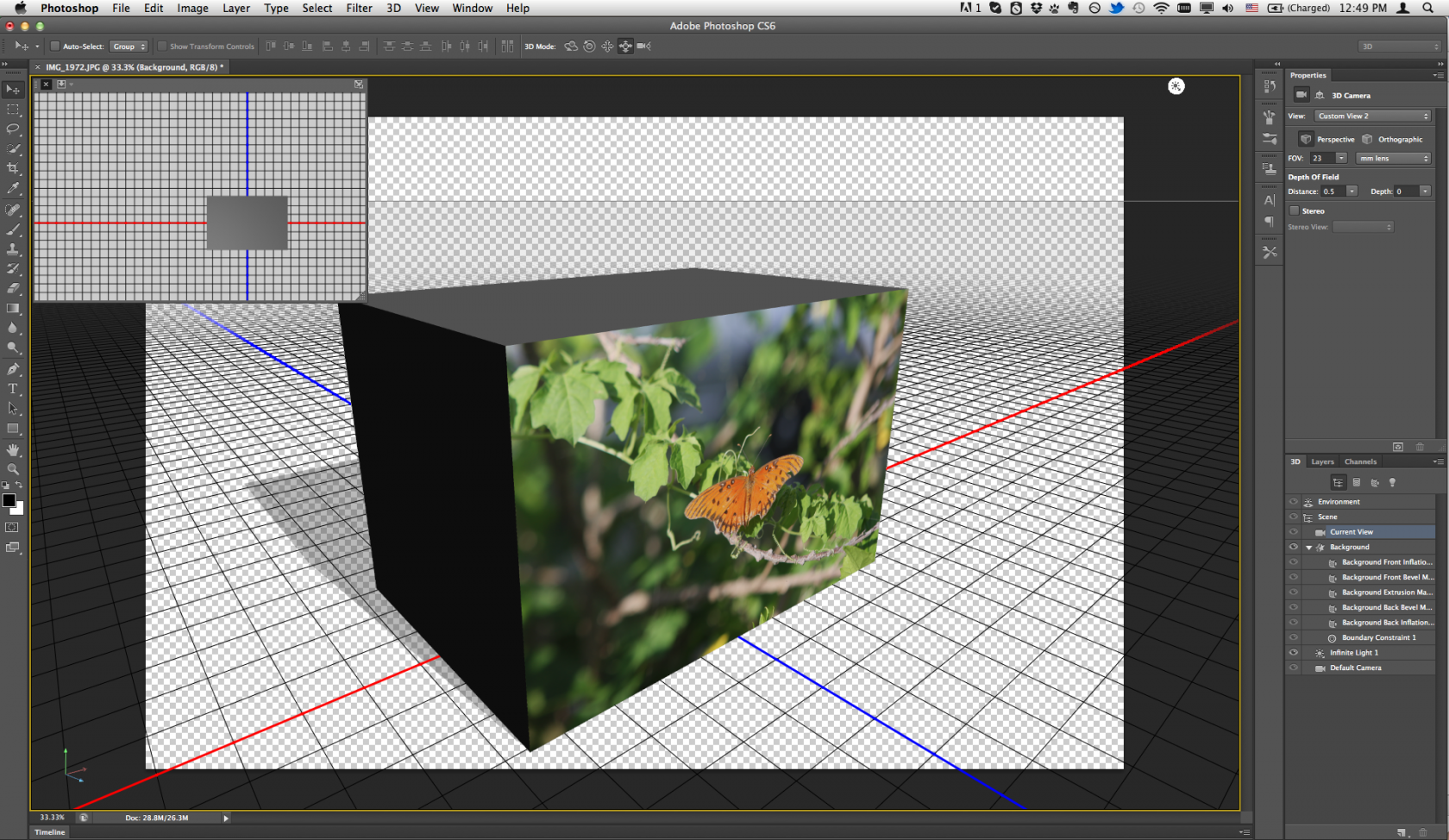 ... Adobe Photoshop CS6 Extended 13.0 for Mac 3D screenshot ...