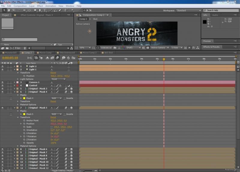 Adobe After Effects CS5 and CS55 tutorials
