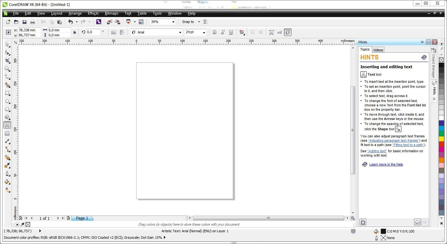 coreldraw graphics suite x6 16 0 0 707 screenshot