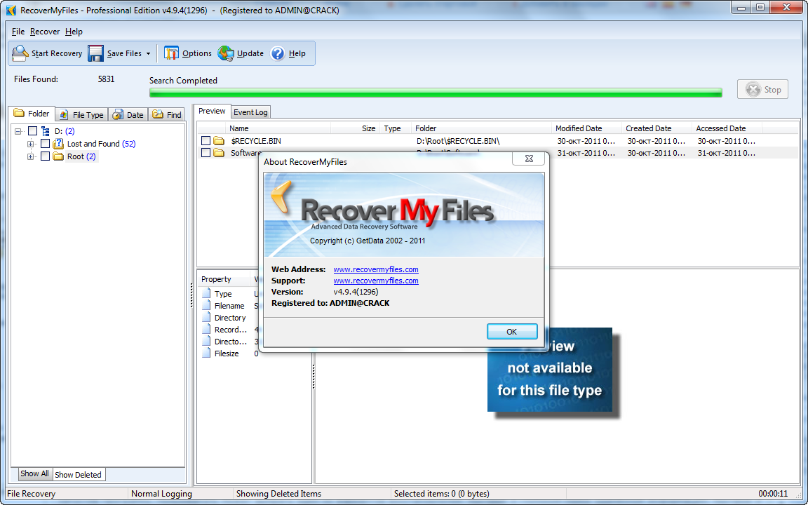 getdata recover my files professional 4.9.4