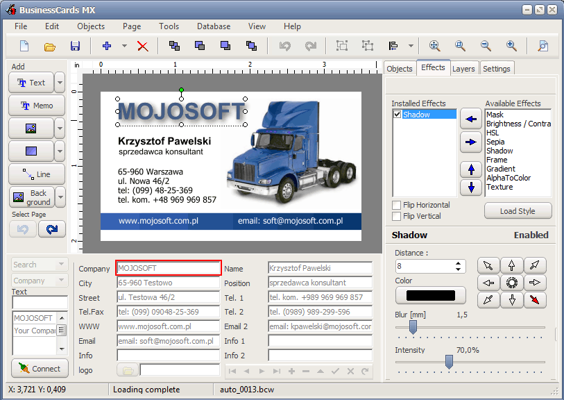 Buy mojosoft businesscards mx 500 download for windows down mojosoft businesscards mx 46 screenshot reheart Images