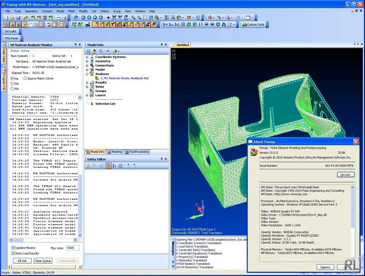 Buy Siemens PLM FEMAP with NX Nastran 10 3 1 64-bit 32-bit