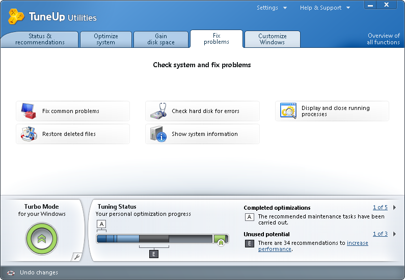 Buy TuneUp Utilities 2014 14.0.1000.340 download for Windows :: DOWN